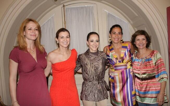 Babi Xavier, Adriana Garambone, Ana Botafogo, Totia Meireles e Ana Rosa