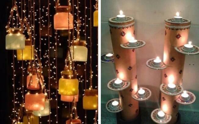 Decorações no estilo Diwali