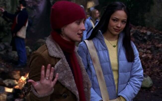 Allison Mack e Kristin Kreuk atuando juntas em