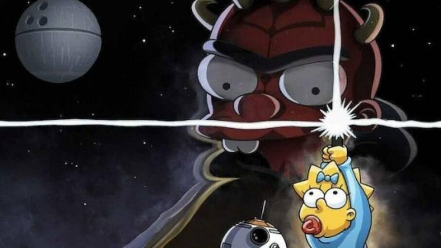 """Disney+ celebra """"May The 4th"""" com crossover entre 'Star Wars' e 'Os Simpsons'"""