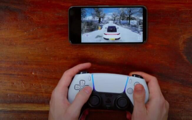 DualSense, controle do PS5, funciona em celulares e PC