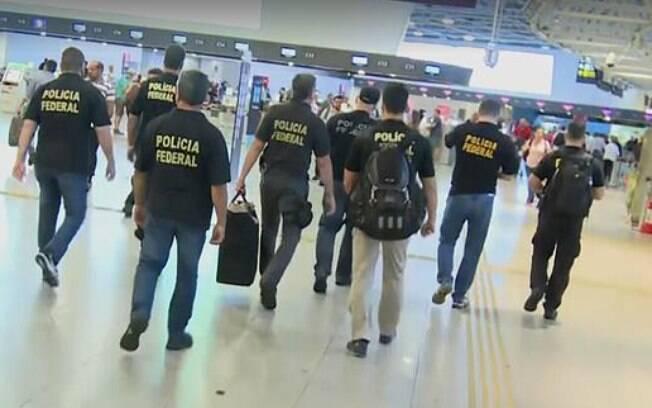 PF durante outra operação no Aeroporto do Galeão; nesta quinta-feira, mandados são cumpridos em diferentes cidades