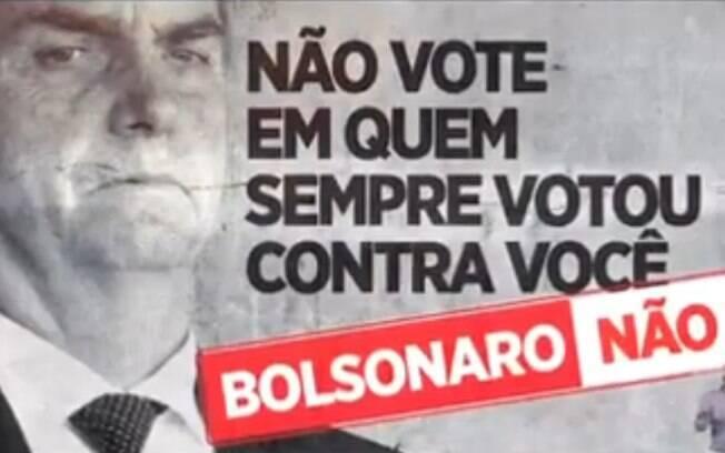 PT ataca Bolsonaro em propaganda lançada nesta quarta-feira (3)