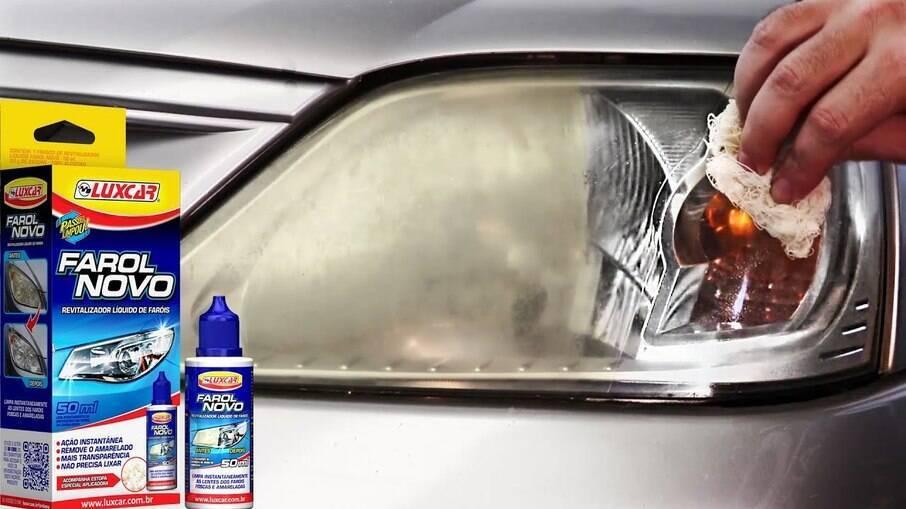 Revitalizador Farol Novo da Luxcar renova as lentes dos faróis sem ter de gastar muito com polimentos.