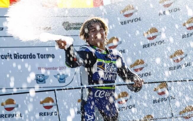 Andreas Pérez sofreu um grave acidente durante o Campeonato Mundial Júnior de motovelocidade