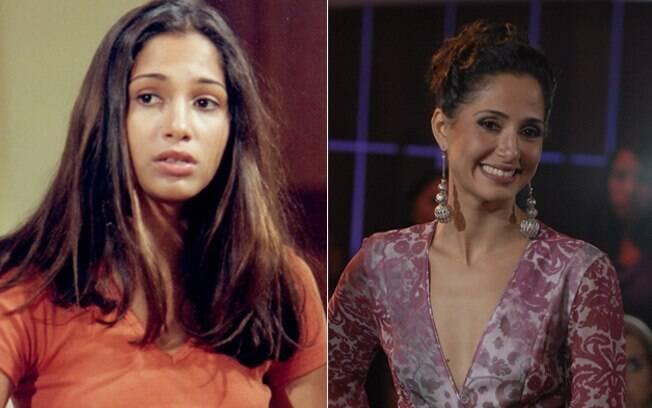 Camila Pitanga tinha 18 anos em 1995. Hoje é uma estrela nacional (na foto, apresentando o