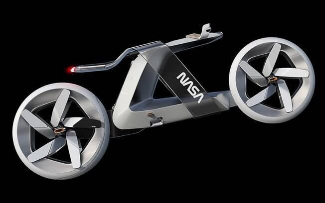 Moto da NASA vem com pás giratórias nas rodas no lugar dos raios convencionais para gerar energia elétrica