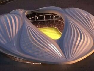 Com capacidade para 45 mil pessoas, o Al-Wakrah Stadium tem causado polêmica pelo seu formato