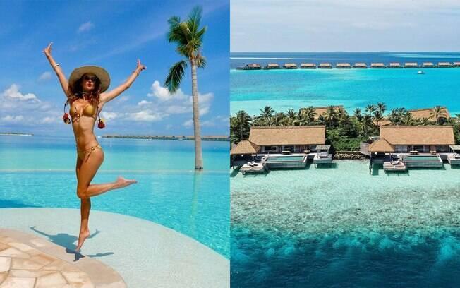 Alessandra Ambrósio está nas Maldivas