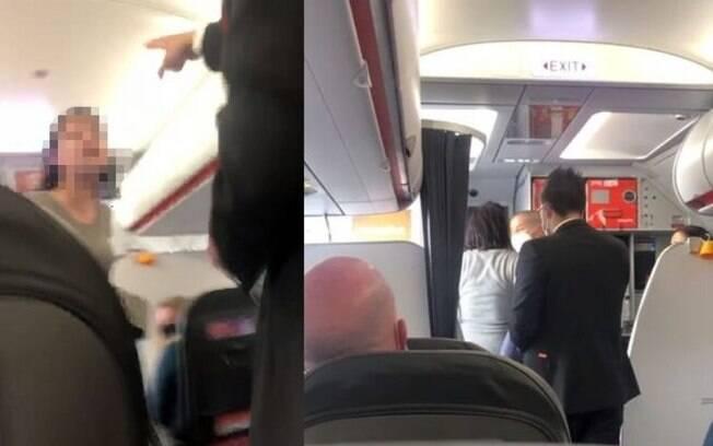 Passageira foi expulsa do avião após causar confusão por não usar máscara