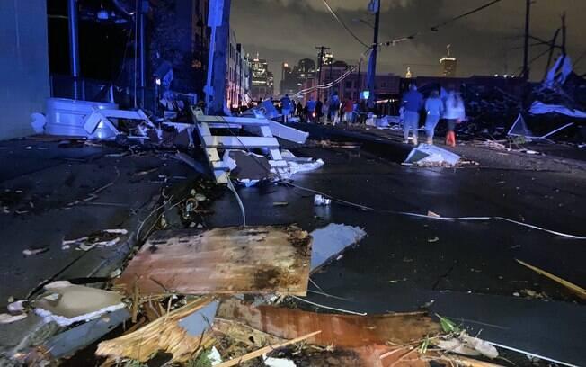 Tornado causou destruição em Nashville