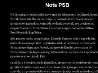 O site oficial da campanha de Eduardo Campos e Marina Silva à Presidência da República (www.eduardoemarina40.com.br) está totalmente preto