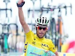 Virtual campeão. Só um desastre nas três ultimas etapas da Volta da França tira o título do italiano