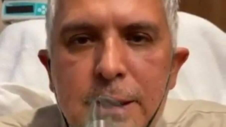 Com Covid-19, Orlando Morais posta vídeo ofegante