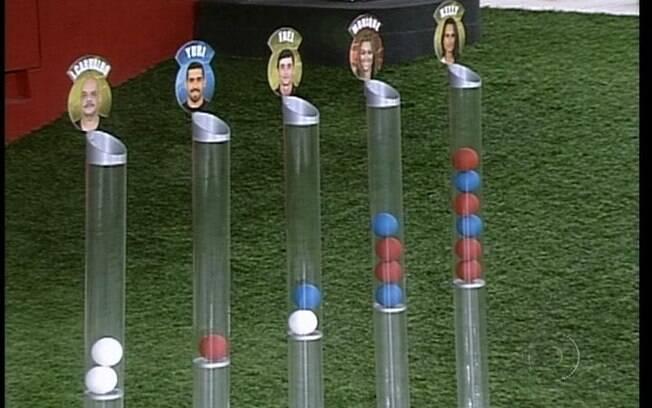 Kelly e Rafa receberam maior número de bolas vermelhas que significam