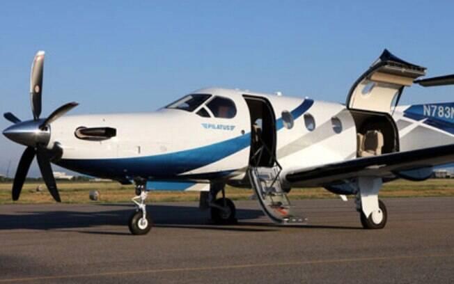 Modelo de avião Pilatus PC-12, mesmo envolvido em acidente nos EUA