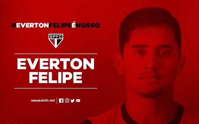 Everton Felipe é o terceiro reforço do São Paulo após a Copa do Mundo