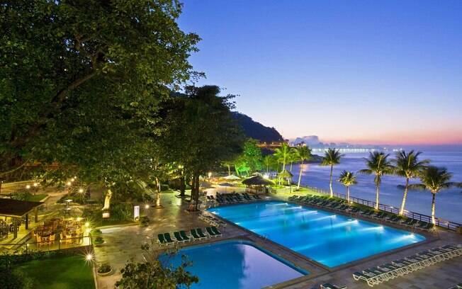 Vista do Hotel Sheraton, localizado na Avenida Niemeyer, entre Leblon e São Conrado