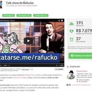 A meta de Rafucko é R$ 50 mil até o dia 13 de maio