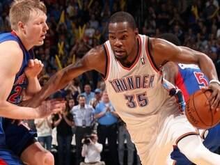 Kevin Durant voltou a comandar vitória do Thunder
