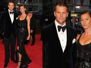 A top Gisele Bündchen com o marido Tom Brady