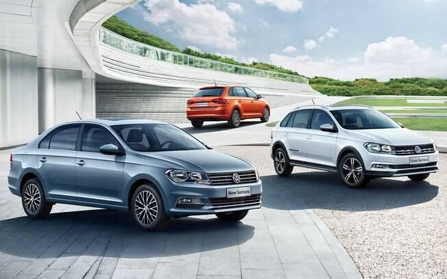 Volkswagen Santana feito sobre a plataforma PQ25 não fo vendido no Brasil, onde o Jetta acabou tomando o lugar no segmento