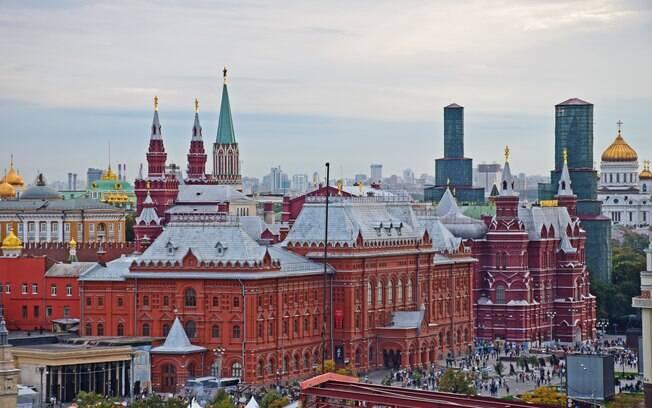 Praça Vermelha, em Moscou, está entre as principais atrações turísticas da Rússia, país sede da Copa do Mundo