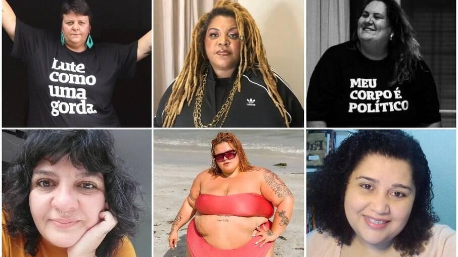 Maju Jimenez, Ellen Valias, Jéssica Balbino, Agnes Arruda, Thais Carla e Mirani Barros