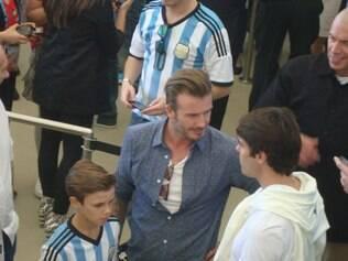 Área vip no Maracanã teve presença de Kaká, Beckham e Pelé