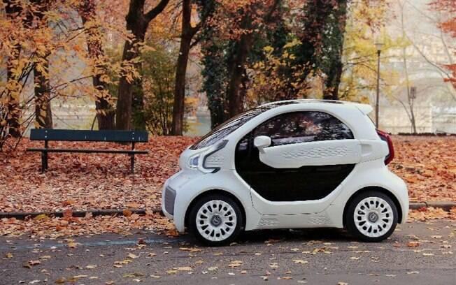 Eis o primeiro carro elétrico feito por impressão 3D. Símples em sua concepção, é pensado para as cidades