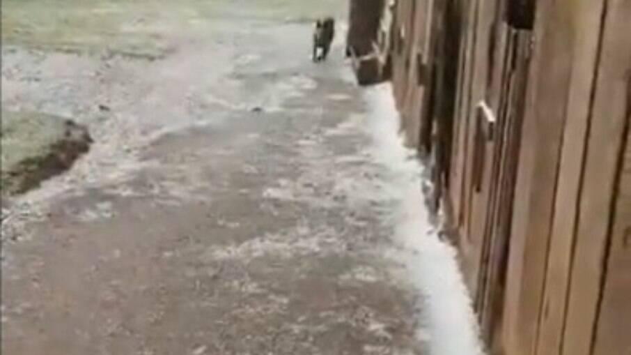Várias cidades gaúchas registraram queda de neve nesta quarta-feira (28)