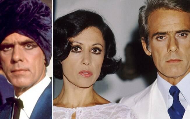 Francisco Cuoco com o famoso look, e com Dina Sfat, em