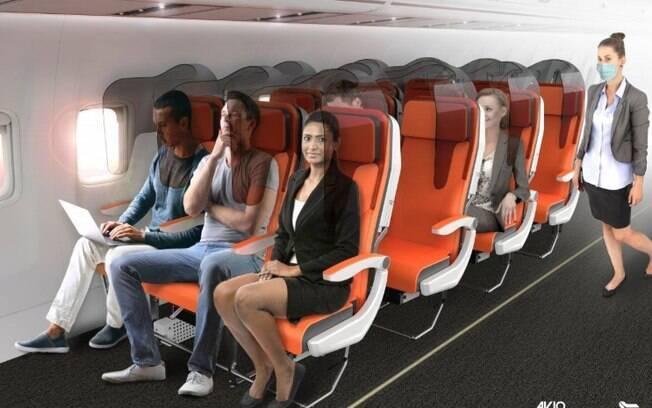 As poltronas de aviões podem ser modificadas após o surto global do novo coronavírus