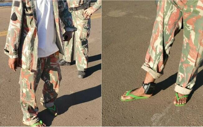 Rapaz disfarçou tornozeleira com farda da polícia militar ambiental