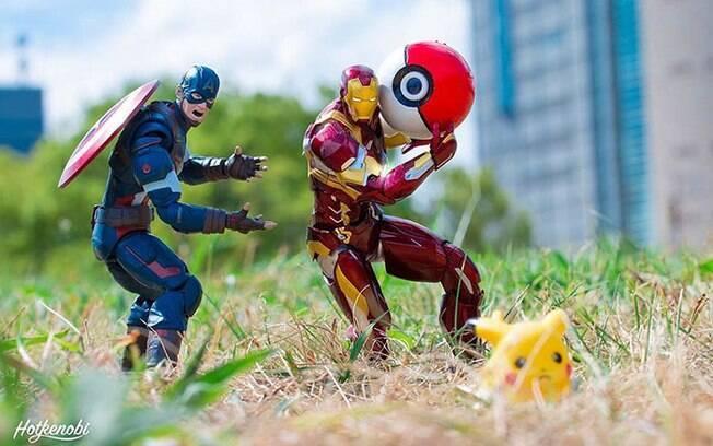 Fotógrafo japonês cria imagens épicas usando bonecos de super-heróis