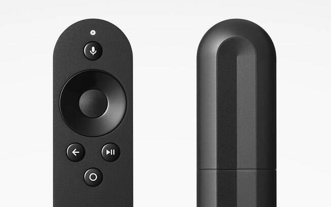 Nexus Player tem um controle remoto próprio e conta com o recurso Google Cast Ready, para o usuário transmitir conteúdo para a TV