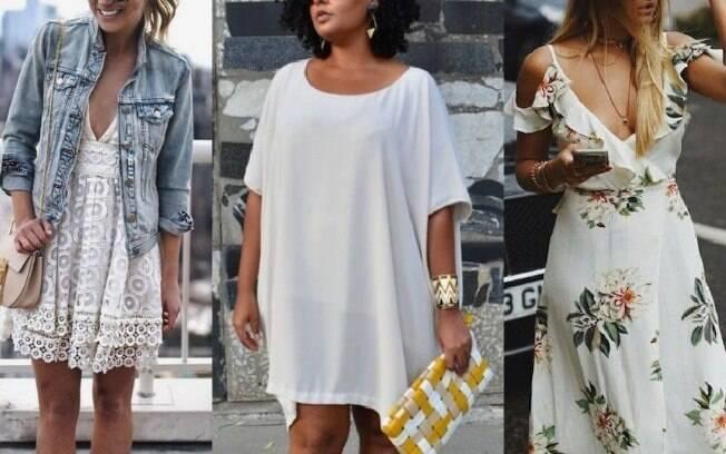 Vestidos na cor branca estão chamando a atenção das consumidoras que compram roupas em lojas pela internet
