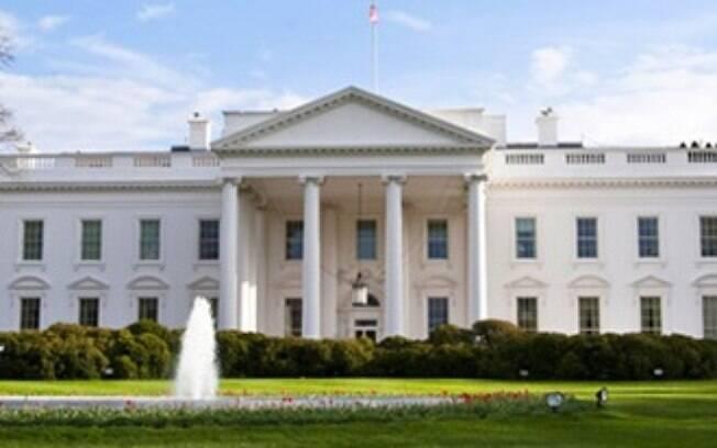 Fachada da residência oficial da presidência norte-americana, localizada em Washington