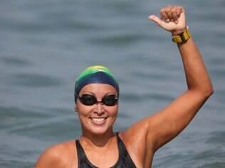Okimoto levou a medalha de ouro na prova de 10km da maratona aquática do Mundial de Esportes Aquáticos