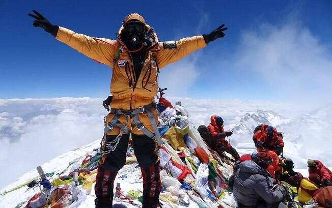 Rodrigo Raineri conquistoy o cume do Everest, pela terceira vez, no dia 21 de maio deste ano