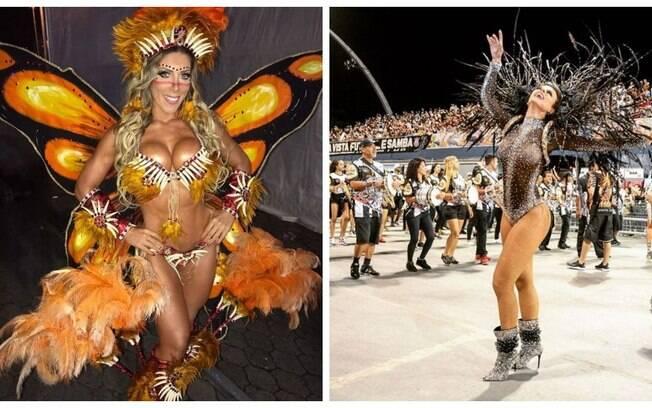 Tati Minerato e Renata Teruel se desentendem em ensaio técnico da Gaviões da Fiel para o Carnaval 2018