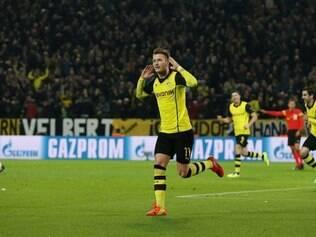 Marco Reus balançou as redes em duas oportunidades, mas classificação alemã não saiu