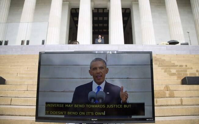 Obama faz pronunciamento para marcar 50º aniversário de discurso de Martin Luther King (28/8/2013)