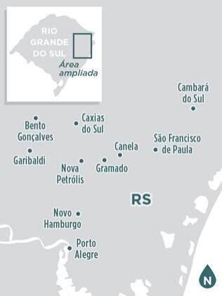Localize-se nas principais cidades da serra gaúcha