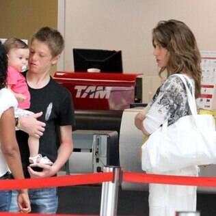 Letícia Spiller com os filhos Pedro e Stella