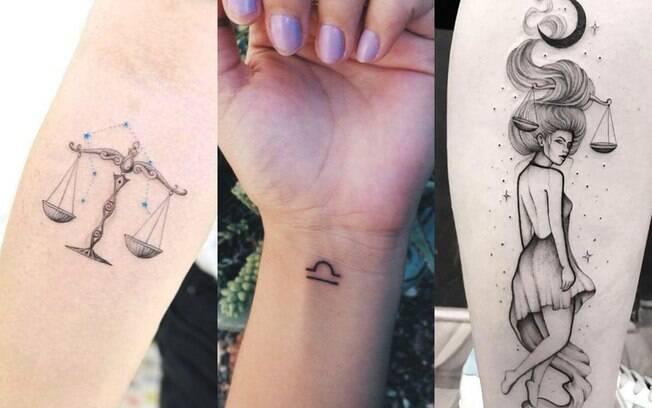 tatuagens representando o signo de libra