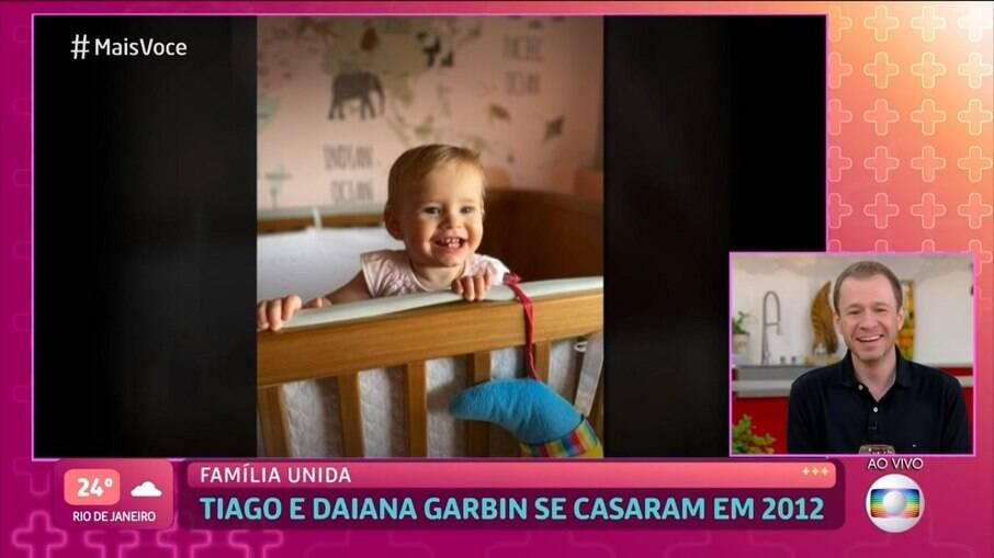 Tiago Leifert mostrou a filha no Mais Você