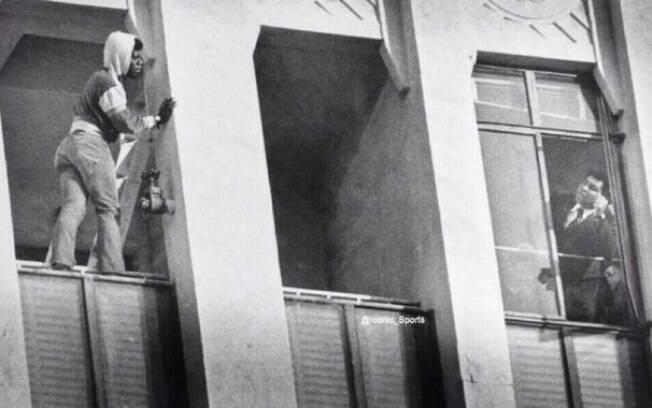 Muhammad Ali tenta convencer um suicida a não pular, 1981.