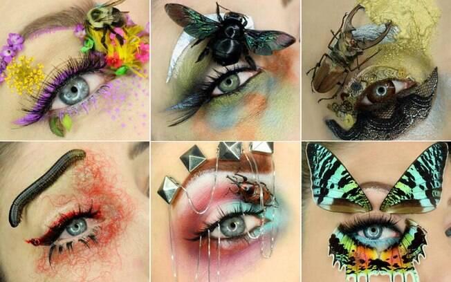 Jasmine e as criações de maquiagem com insetos estão dando o que falar nas redes sociais