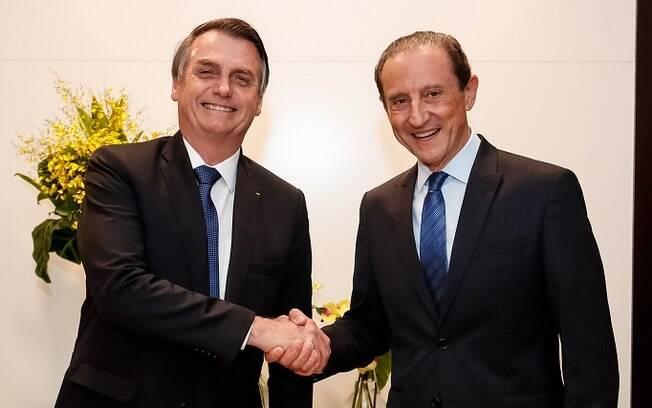 Antes da internação, Paulo Skaf se encontrou com Jair Bolsonaro, que também testou positivo para Covid-19